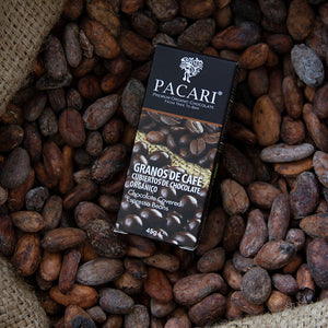 Organic Chocolate Covered espresso coffee beans,  organic, vegan, palm oil free, soy free, gluten free, kosher.