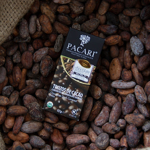 Raw Organic Chocolate Covered  Cacao Nibs,  organic, vegan, palm oil free, soy free, gluten free, kosher.