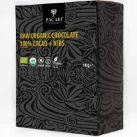 DISPLAY Mini Bars Organic Chocolate Raw 101% & Nibs