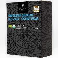 Organic Raw Chocolate with Coconut Sugar - 85 - Cacao - Minibars - Pacari- 100 pieces