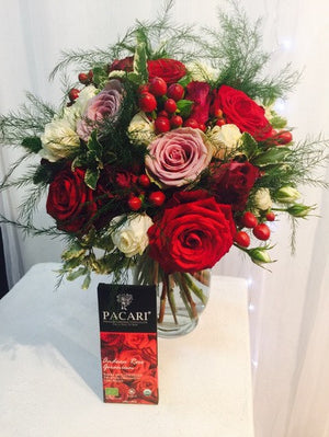 Andean Rose Chocolate Bar with Bouquet | Pacari Chocolates