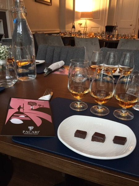 Whisky pairing at a Chocolate Tasting Experience | Pacari Chocolates