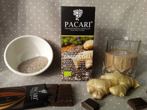 Organic Chocolate Bar with Ginger & Chia