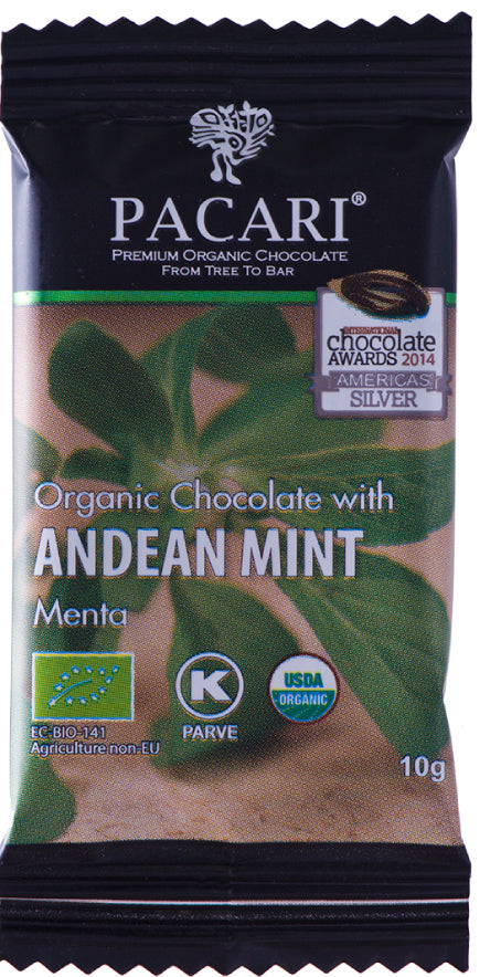DISPLAY Mini Bars Organic Chocolate Andean Mint