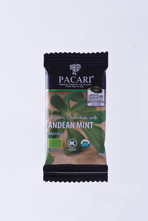 Organic Chocolate with Andean Mint mini bar, 10g