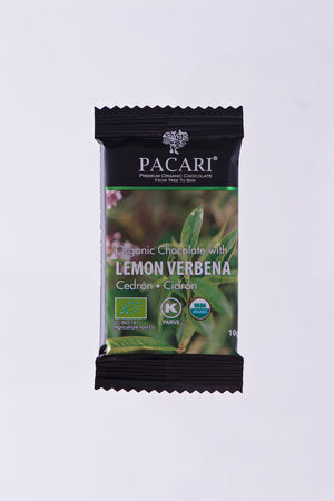 Organic Chocolate with Lemon Verbena mini bar, 10g