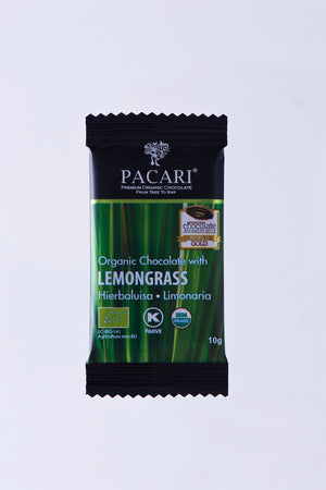 Organic Chocolate with Lemongrass mini bar, 10g