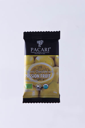 Organic Chocolate with Passion Fruit mini bar, 10g