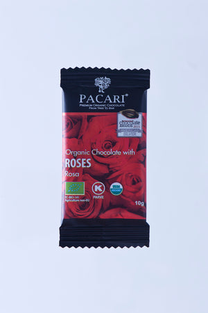 Organic Chocolate with Andean Rose mini bar, 10g