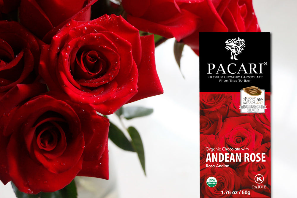 Organic Chocolate Bar with Andean Rose
