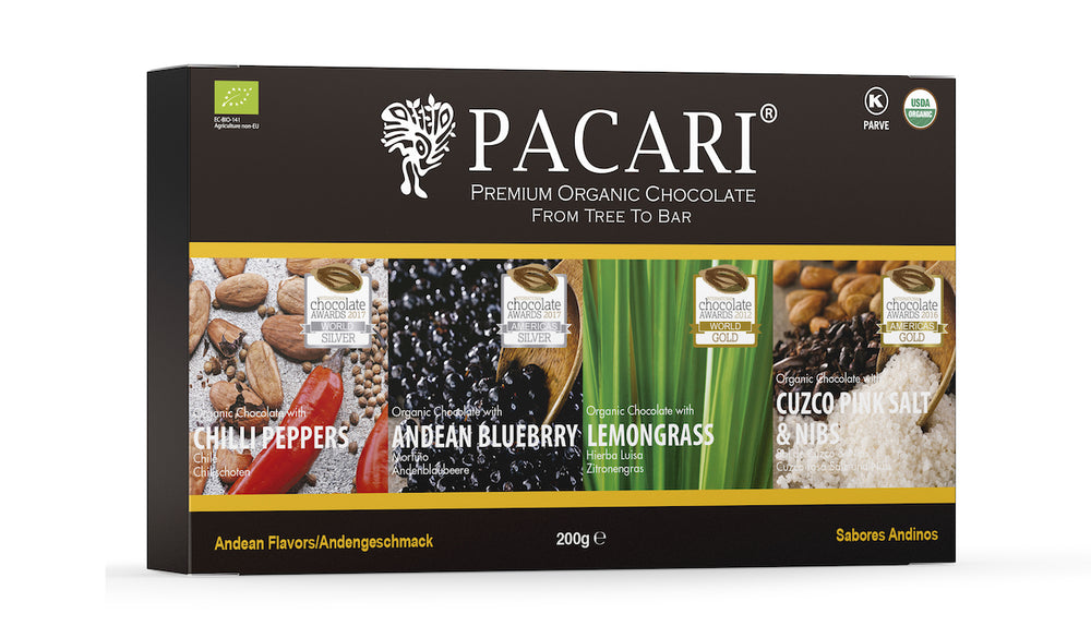 Andean Flavours Organic Chocolate Gift Set (4 bars)