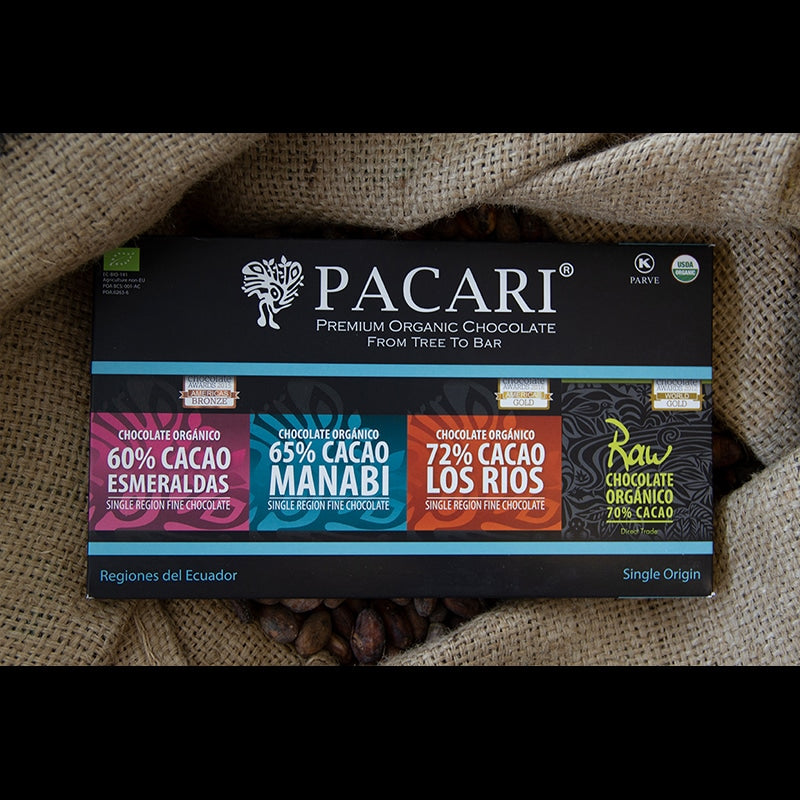 Single Origin Organic Chocolate Gift Set organic, vegan, palm oil free, soy free, gluten free, kosher.