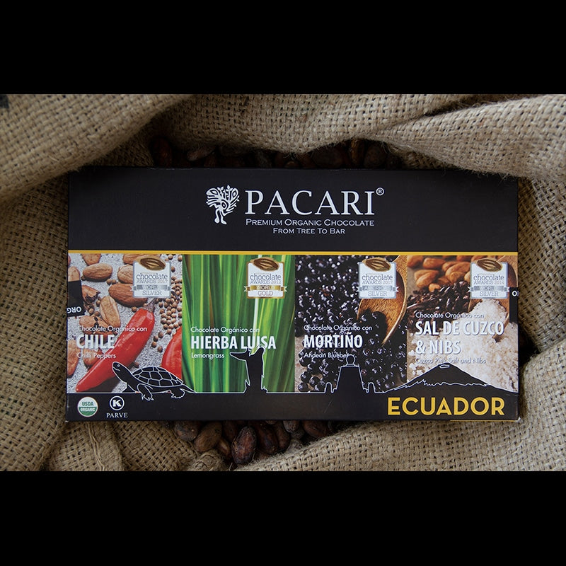 Andean Flavours Pacari Dark Chocolate Gift Set
