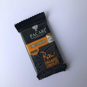 Organic Raw Chocolate 100% cacao, mini bar, 10g