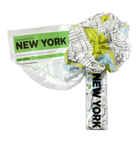 Crumpled City Map - New York