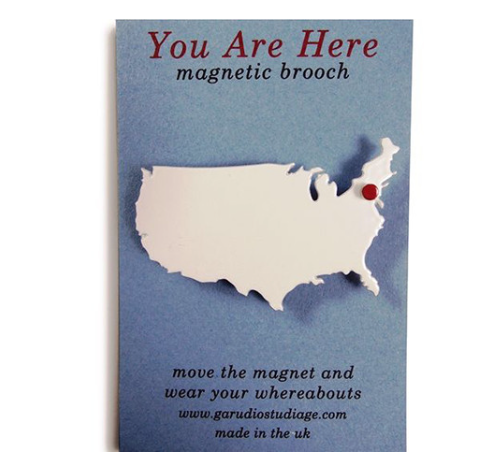 You Are Here USA - Magnetic Brooch