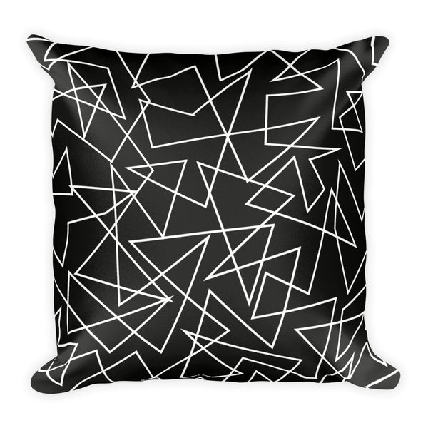 MONOCHROME GEO-PRINT double-sided pillow
