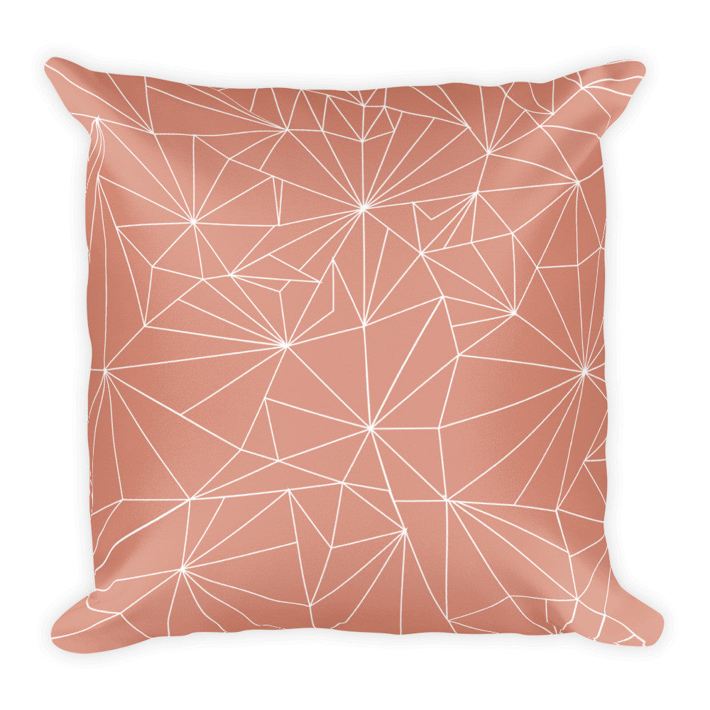 PEACH 'WEB' Double Sided Pillow