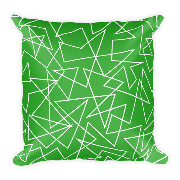 GREEN GEO-PRINT double sided pillow