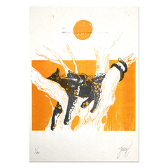 """High Noon"" Limited edition RISO print"
