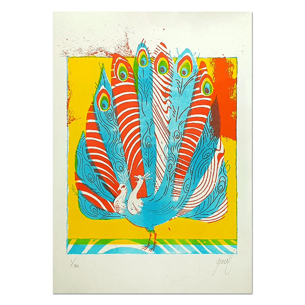 """Peacock"" Limited edition RISO print"