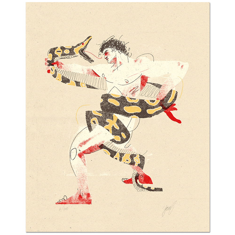 """Python"" Limited Edition Screen Print"