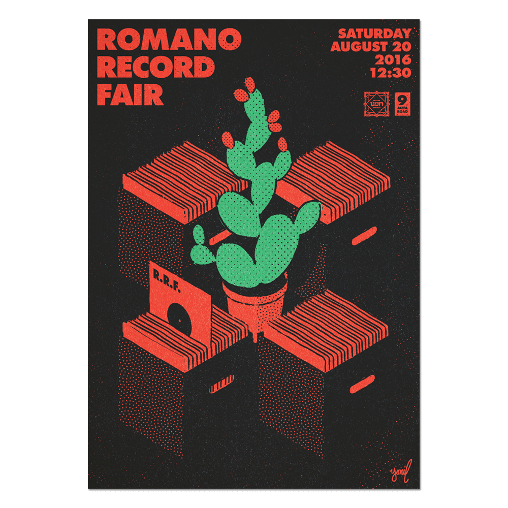 Romano Record Fair #3 Print Print- YONIL | The Store