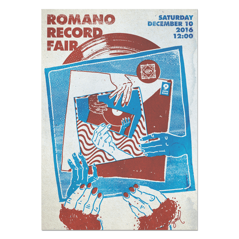 Romano Record Fair #4 Print Print- YONIL | The Store