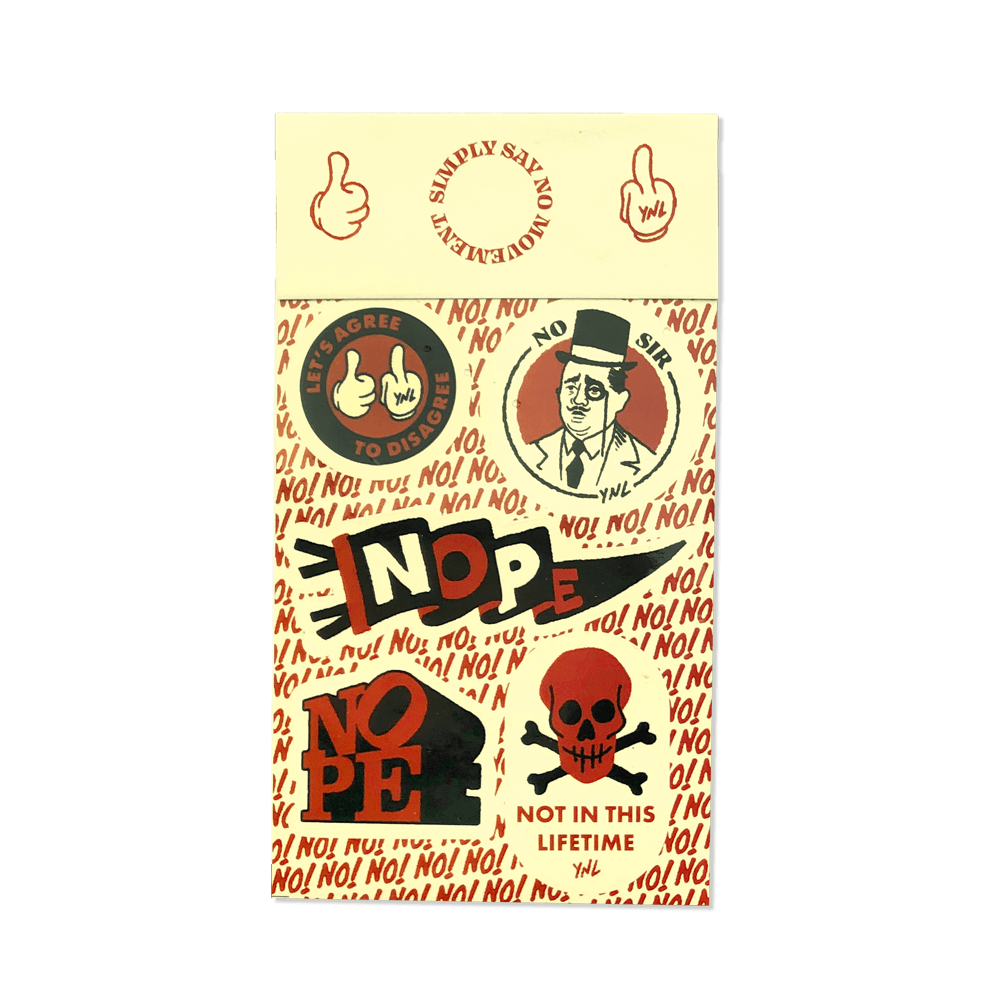 """SIMPLY SAY NO MOVEMENT"" Sticker Sheet (White) Goods- YONIL 