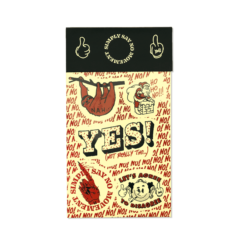 """SIMPLY SAY NO MOVEMENT"" Sticker Sheet (Black) Goods- YONIL 