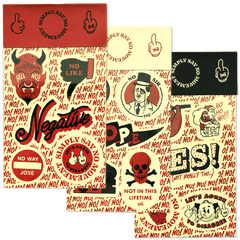 """SIMPLY SAY NO MOVEMENT"" Sticker Sheet (Red) Goods- YONIL 