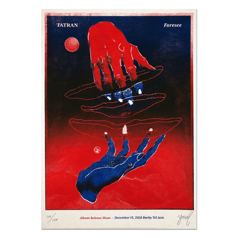 TATRAN FORESEE Limited edition RISO gig poster Print- YONIL | The Store