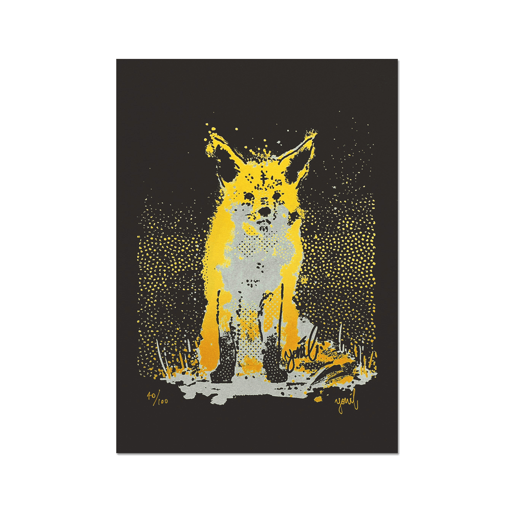 """The Goldest""<br>Limited edition screenprint Print- YONIL 