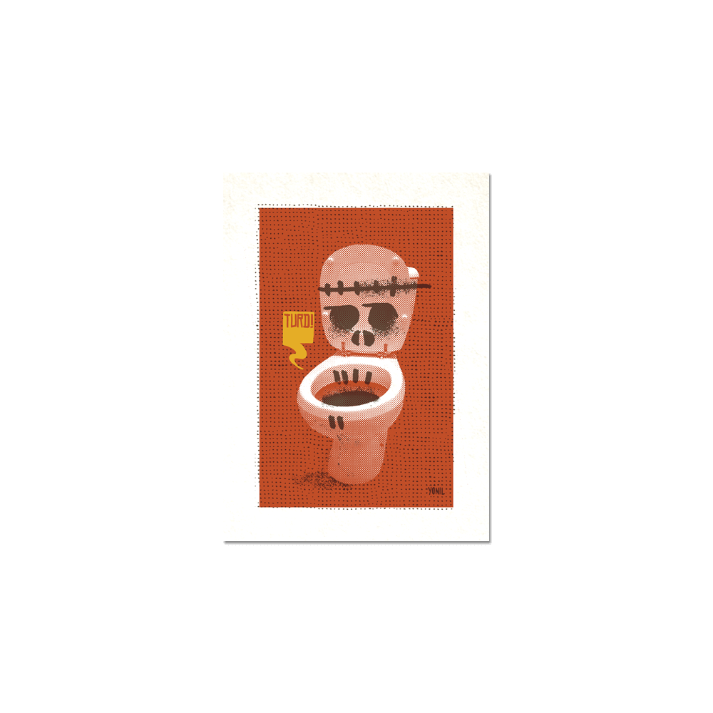 "Toilet Series #2 - ""Turd"" Print Print- YONIL 