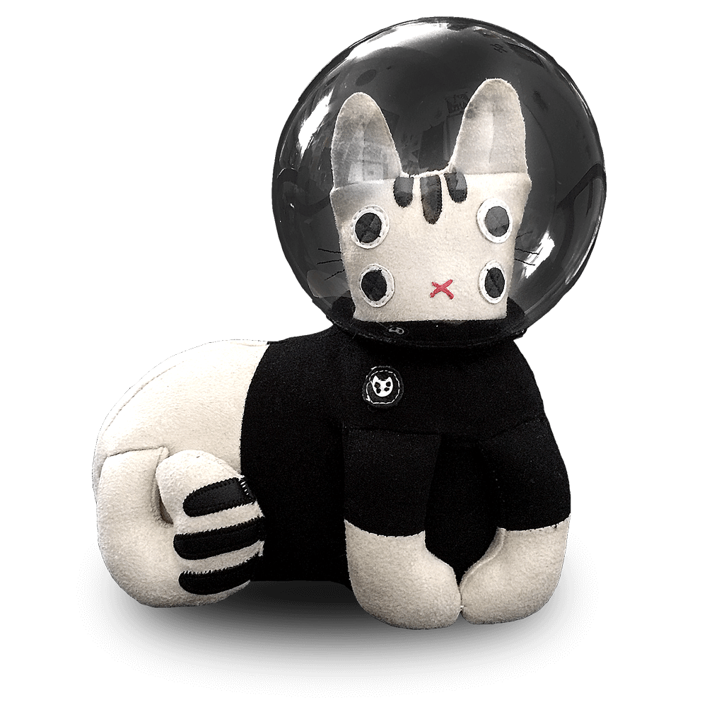 """Trouble on Planet NAMA"" Limited Edition Space Cat Art Toy #6 Goods- YONIL 