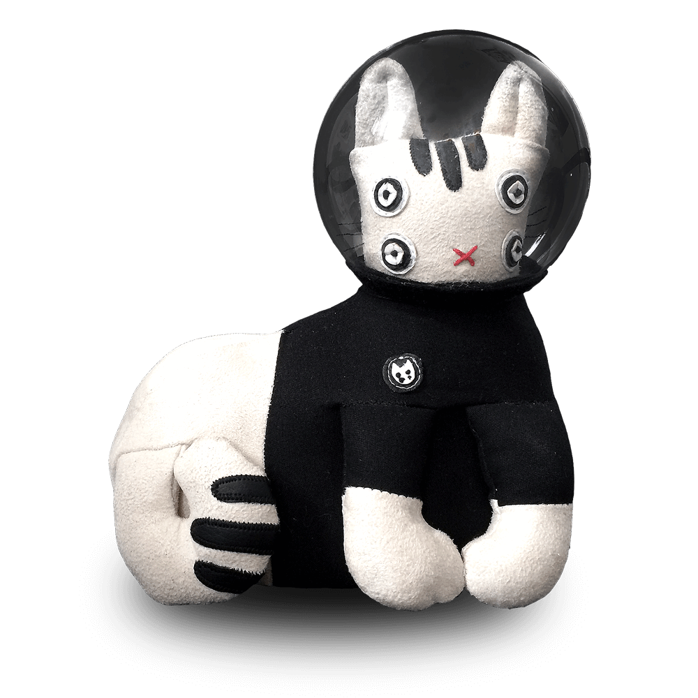 """Trouble on Planet NAMA"" Limited Edition Space Cat Art Toy #3"