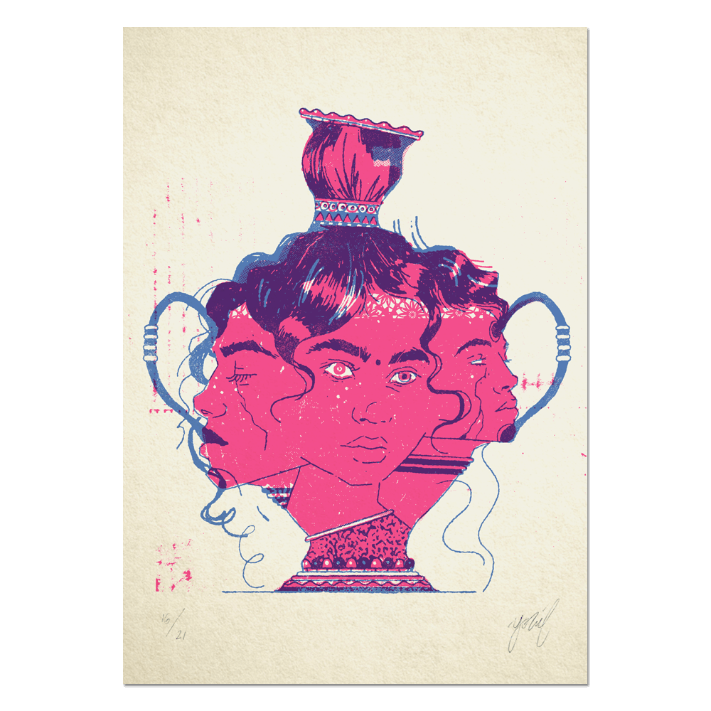 """Vase"" Limited edition RISO print"