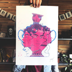 """Vase"" Limited edition RISO print Print- YONIL 