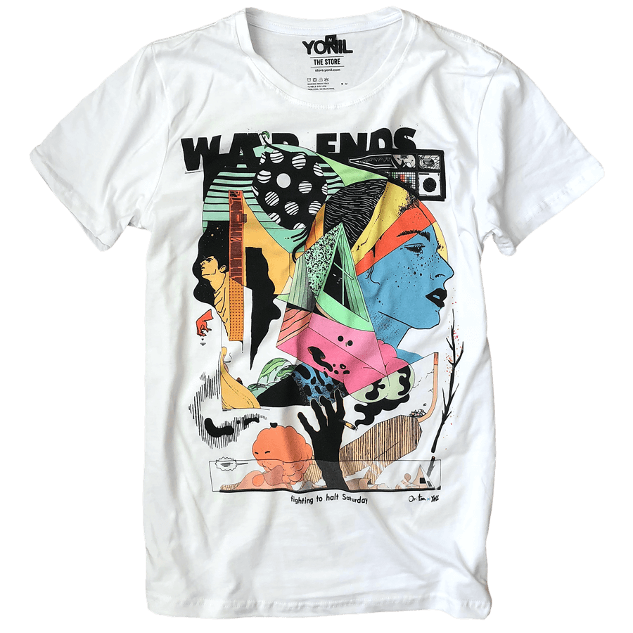 """War Ends"" T-Shirt T-shirts- YONIL 