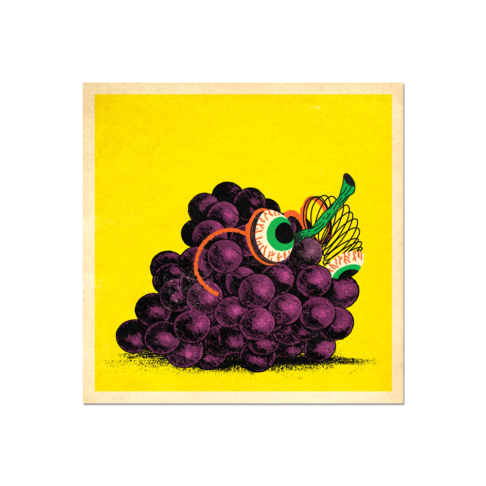 "Many Things Series - ""A Bunch of Grapes"" Print Print- YONIL 