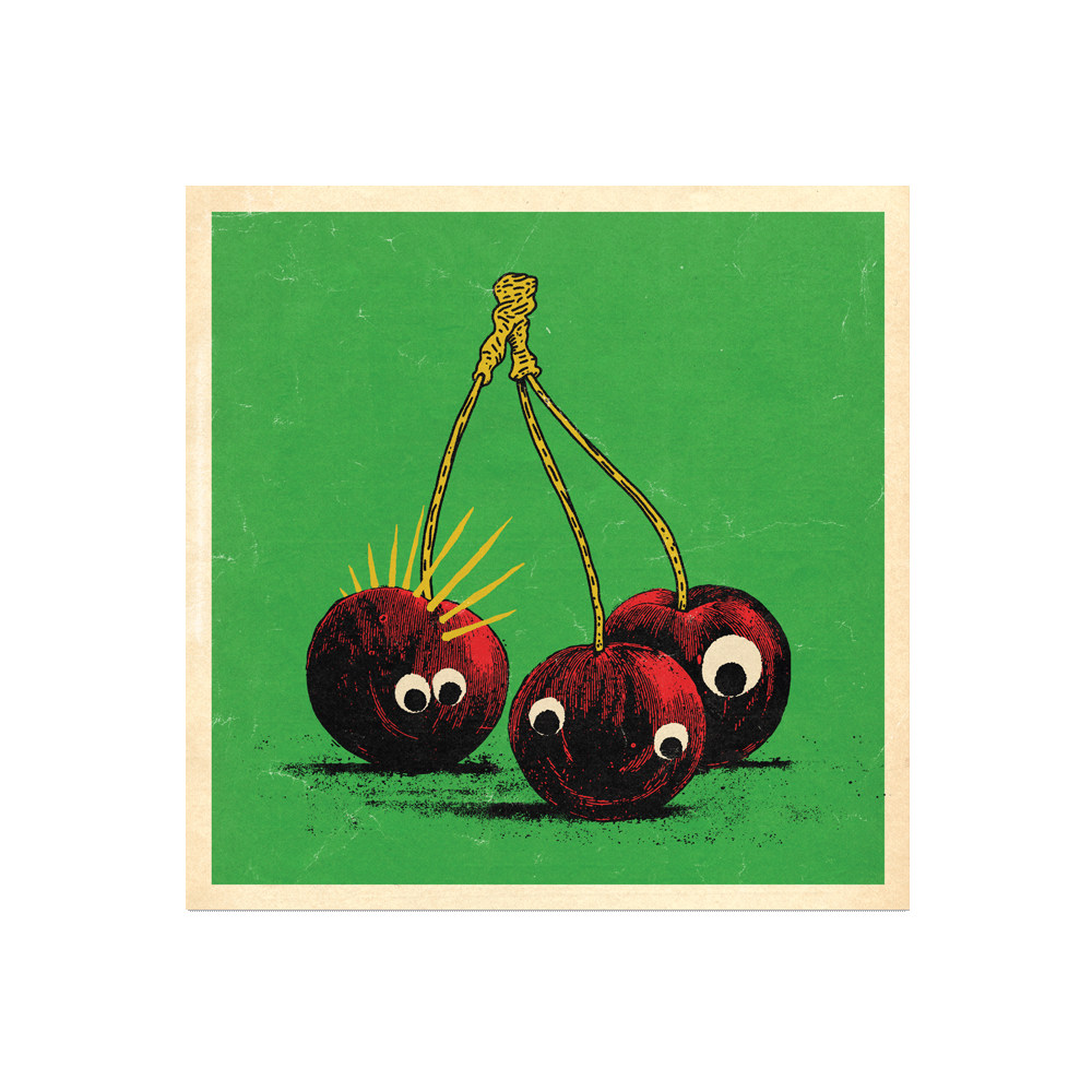 "Many Things Series - ""A Cherry Trio"" Print Print- YONIL 