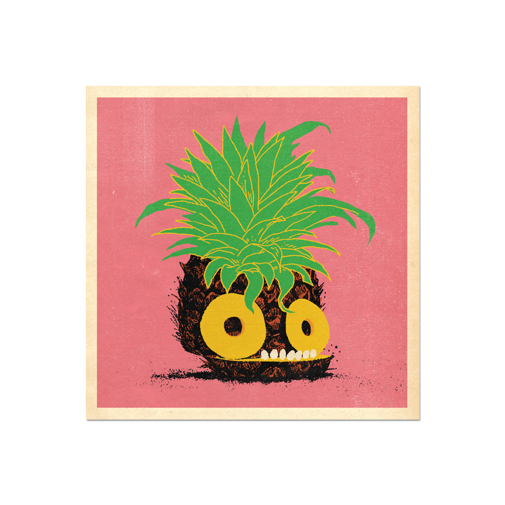 "Many Things Series - ""A Sliced Pineapple"" Print Print- YONIL 