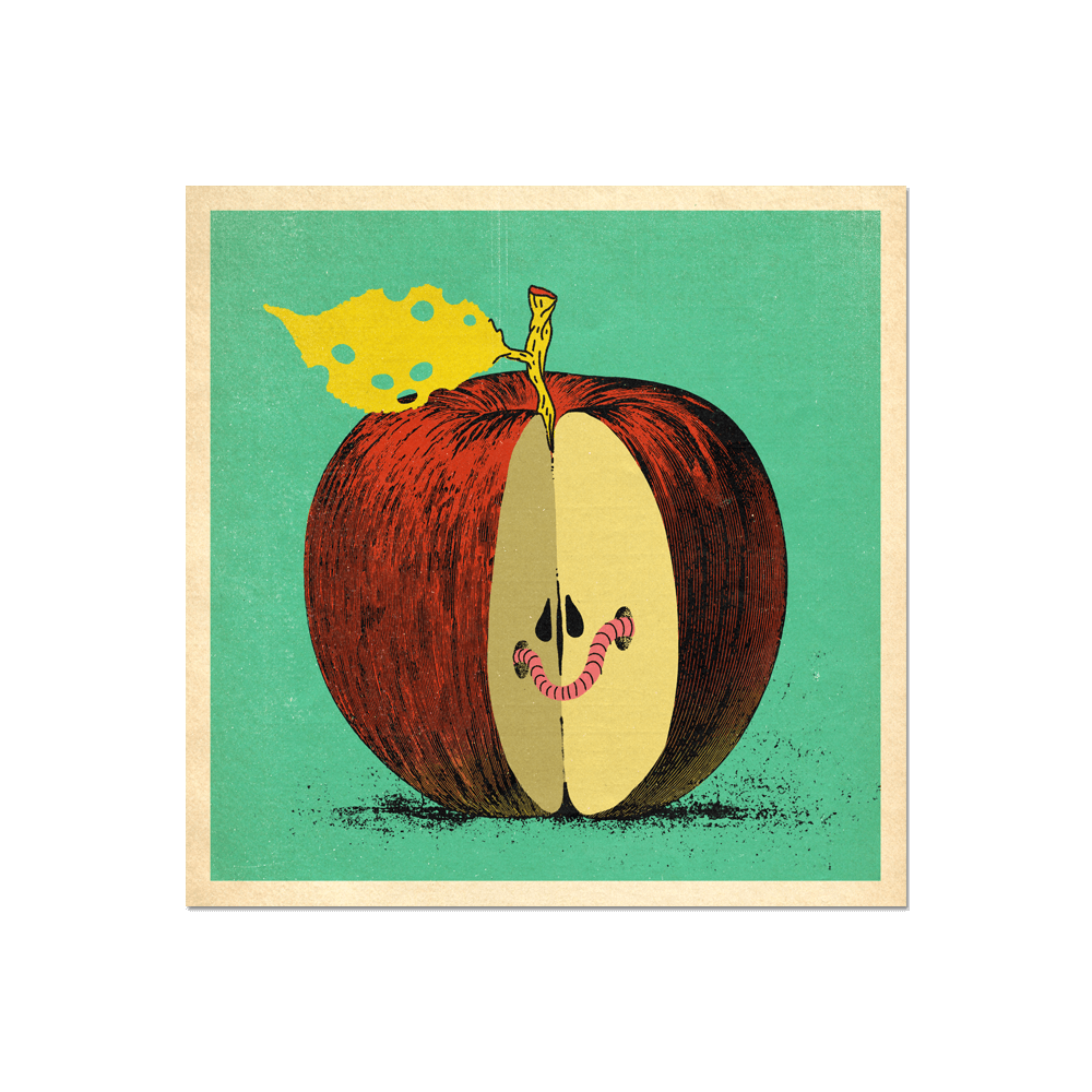 "Many Things Series - ""An Apple"" Print Print- YONIL 