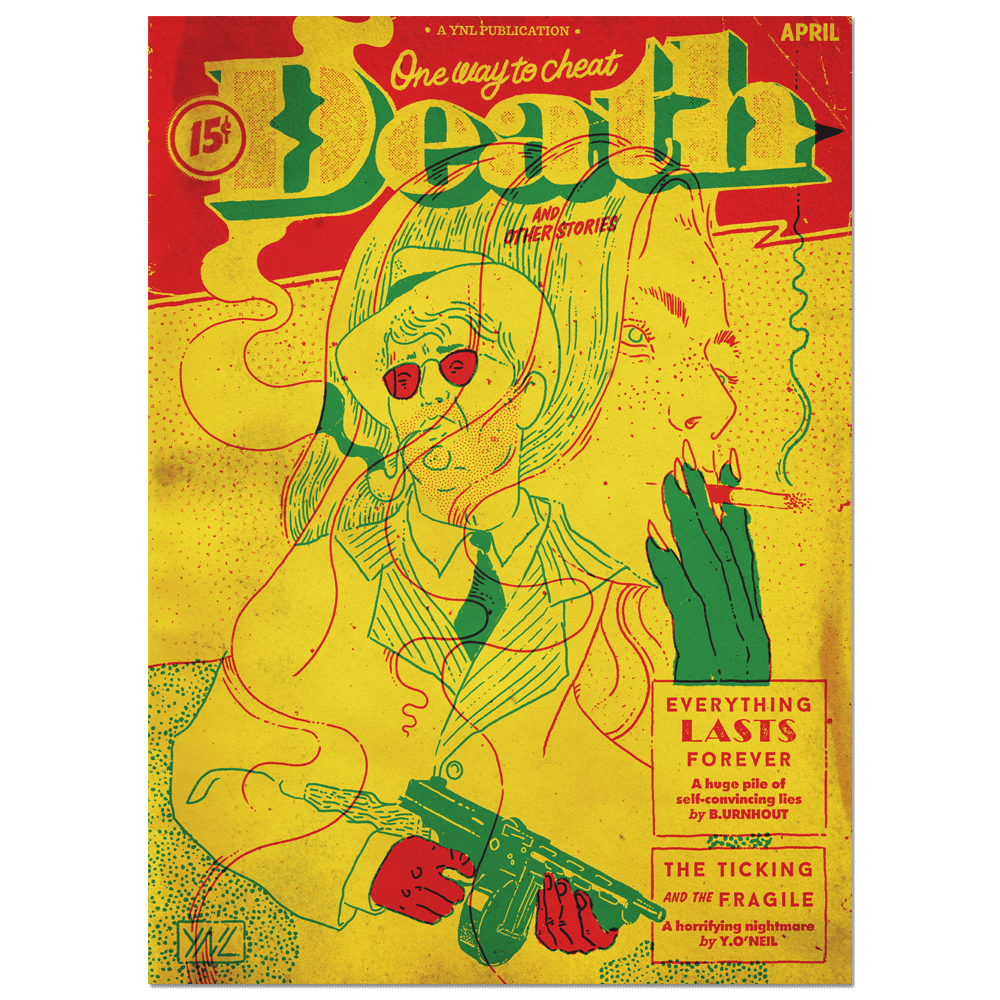 """One Way to Cheat Death"" Limited edition ArtPrint Print- YONIL 