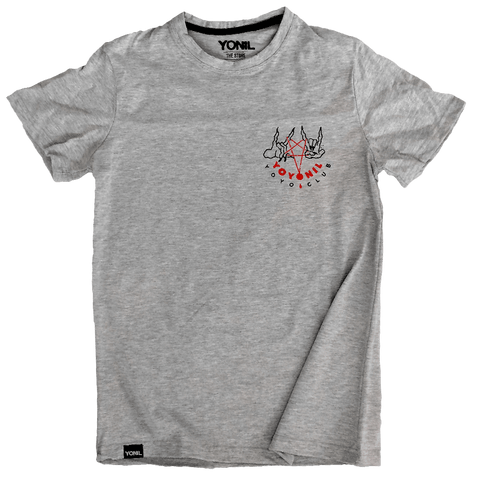 """YOYONIL yoyo club"" (Grey) T-Shirt T-shirts- YONIL 