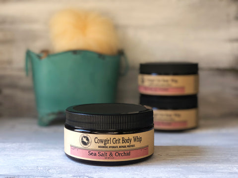 Cowgirl Grit Body Whip 8 oz - Sea Salt & Orchid