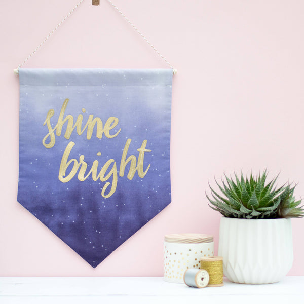 Rachel & George Banner Shine Bright Fabric Banner