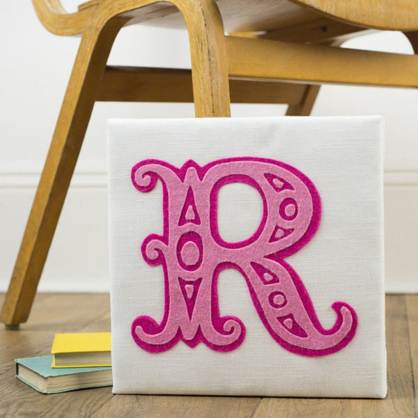 Rachel & George Canvas Artwork Circus Letter Handmade Canvas