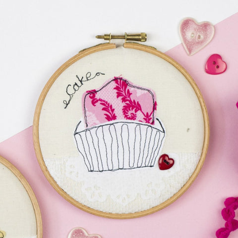 Fondant Fancy Embroidery Hoop