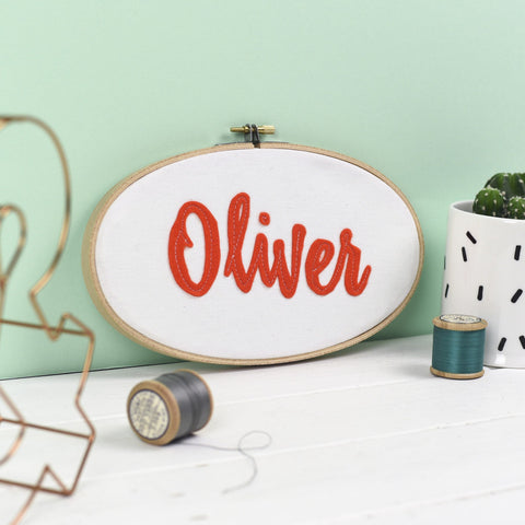 Personalised Embroidery Hoop Name Sign